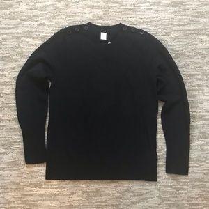 J. Crew XL Black Dream Alexie Button Sweater